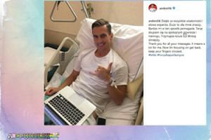 Arek Milik pozdrawia ze szpitala