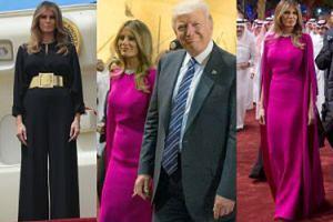 Elegancka Melania Trump bez chusty na głowie w Arabii Saudyjskiej (ZDJĘCIA)