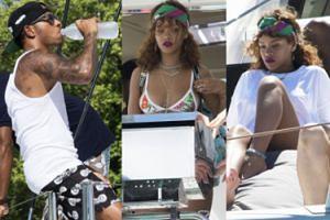 Rihanna bawi się na Barbadosie... z Lewisem Hamiltonem! (ZDJĘCIA)