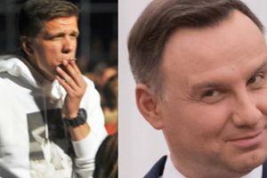 """Szczęsny palił papierosy z... Andrzejem Dudą! """"Jarałem się tym. Ja, Wojtek z Grochowa, stoję na papierosie z prezydentem Polski"""""""