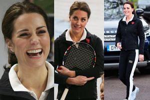 Księżna Kate gra w tenisa. Widać już brzuszek? (ZDJĘCIA)