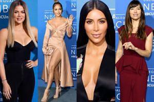 """Kardashianki """"jak figury woskowe"""" i Jennifer Lopez na imprezie NBC (ZDJĘCIA)"""