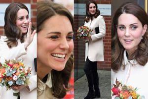 Księżna Kate na spotkaniu z dziećmi w kremowym płaszczu za 3 tysiące (ZDJĘCIA)