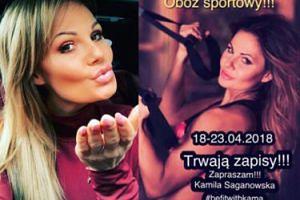 Kamila Saganowska zaprasza na obóz sportowy w Dworku nad Pilicą! Co na to Ania Lewandowska?