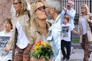 Szczęśliwa Patrycja Markowska na rodzinnym spacerze z synem i partnerem (ZDJĘCIA)