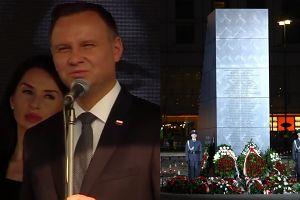 """Duda na odsłonięciu pomnika smoleńskiego: """"Wierzę, że będzie nas jednoczył. Jest dla wszystkich!"""""""