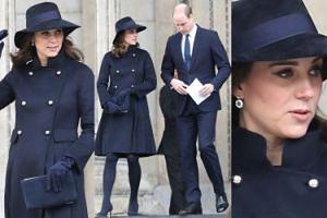 Coraz większy brzuszek księżnej Kate w płaszczu za 5 tysięcy (ZDJĘCIA)