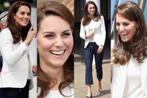 Księżna Kate w marynarskiej stylizacji na imprezie charytatywnej (ZDJĘCIA)
