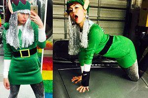 Miley imprezuje w święta… (ZDJĘCIA)