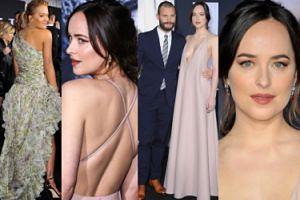 """Dakota Johnson, Jamie Dornan i Rita Ora na premierze """"Ciemniejszej strony Greya"""" (ZDJĘCIA)"""