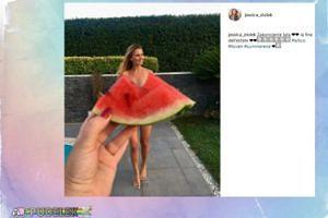 NAGA Jessica Ziółek chowa się za arbuzem. Seksowna?