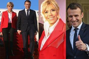 Szczęśliwa Brigitte Macron towarzyszy mężowi podczas wizyty w Tunezji (ZDJĘCIA)