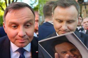 Duda gawędzi z wyborcami i uśmiecha się nad własnymi zdjęciami