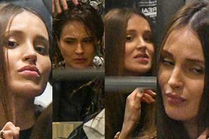 Dziwne miny niezadowolonej Mariny w salonie fryzjerskim (ZDJĘCIA)