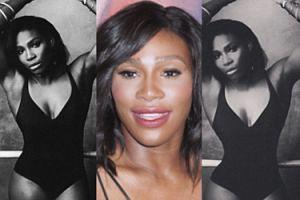 Serena Williams przed i po obróbce grafików... (FOTO)