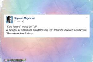 """Szymon Majewski o powrocie """"Koła Fortuny"""": """"Powinno się nazywać Ratunkowe..."""""""