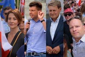 Aktorzy i politycy wzięli udział w proteście pod Sądem Najwyższym: Ostaszewska, Petru, Balcerowicz... (ZDJĘCIA)