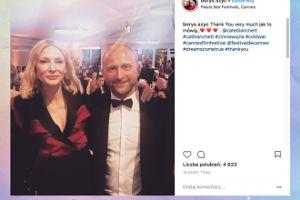 Borys Szyc pozuje z Cate Blanchett