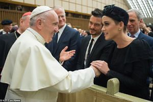 Katy Perry i Orlando Bloom spotkali się z papieżem Franciszkiem (ZDJĘCIA)