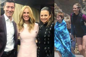 """Kulisy zdjęcia Lewandowskich z Julią Roberts: """"Jej syn jest wielkim fanem Roberta"""""""