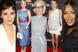 """Gwiazdy integrują się na """"herbatce"""" BAFTA: Naomi Campbell, Emilia Clarke, odmieniona Emma Watson... (ZDJĘCIA)"""