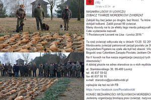 """Myśliwi chwalą się zabitymi lisami na Facebooku. Leśny Patrol: """"MORDERCY I ZWYROLE!"""""""