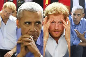 Książę Harry i Barack Obama razem przeżywają mecz koszykówki (ZDJĘCIA)