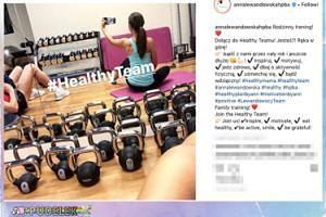 Lewandowska gubi świąteczne kalorie na siłowni