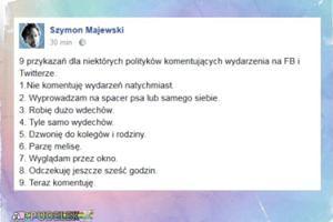 Szymon Majewski przygotował poradnik dla polityków