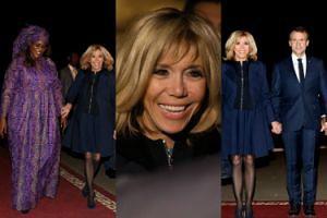 Promienna Brigitte Macron w mini spotkała się z pierwszą damą Senegalu (ZDJĘCIA)