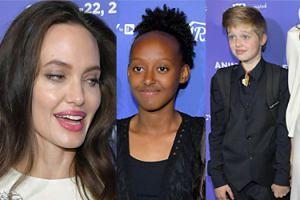 Elegancka Angelina pozuje z córkami na premierze bajki o... Afganistanie (ZDJĘCIA)