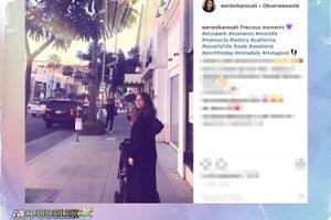 Weronika Rosati na spacerze z córką
