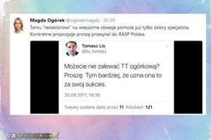 """Magdalena Ogórek uderza w Lisa: """"Na wieczorne obsesje pomoże już tylko dobry specjalista"""""""