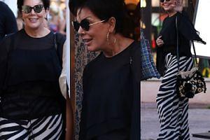 Kris Jenner w spodniach w zebrę na zakupach w St. Tropez (ZDJĘCIA)