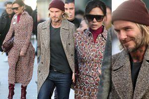 Wystylizowani Beckhamowie przylecieli do Paryża na pokaz Louis Vuitton (ZDJĘCIA)