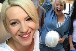 Dorota Szelągowska zakrywa ciążowy brzuszek... kaskiem? (FOTO)