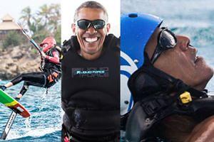Barack Obama uczy się kitesurfingu u miliardera na Karaibach! (FOTO)