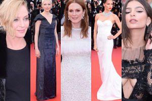Cannes 2017: Uma Thurman, Julianne Moore, Adriana Lima i piersi Emily Ratajkowski (ZDJĘCIA)
