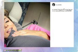 Małgorzata Rozenek na selfie z łóżka