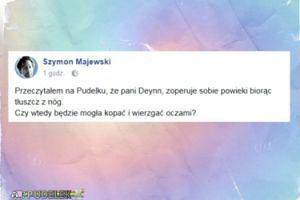 """Szymon Majewski o Deynn: """"Czy wtedy będzie mogła kopać i wierzgać oczami?"""""""