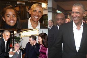 Roześmiany Barack Obama z córką na Broadwayu (ZDJĘCIA)
