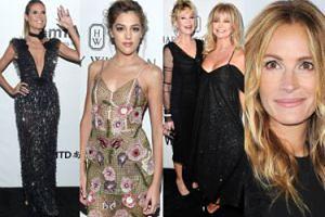 Julia Robert, Melanie Griffith, Goldie Hawn i córka Stallone'a bawią się na gali amfAR (ZDJĘCIA)