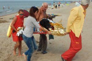 Ratownicy WOPR uratowali labradora, który dostał ZAWAŁU na plaży! (FOTO)
