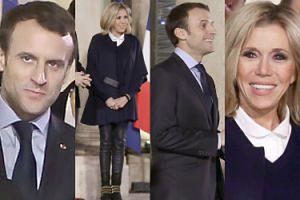 Coraz młodsza Brigitte Macron wita z mężem francuskie piłkarki ręczne (ZDJĘCIA)