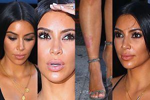 Spocona Kim Kardashian pokazuje sutki w prześwitującej bluzce (ZDJĘCIA)