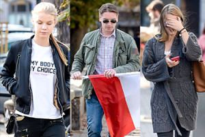 Tomasz Lis poszedł na marsz KOD-u z córkami (ZDJĘCIA)
