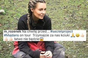 """Wyczerpana Małgosia Rozenek na """"tajnym projekcie"""""""