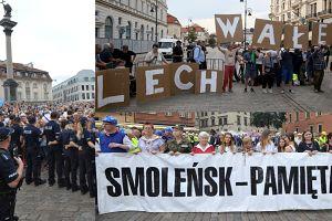 """Tak wyglądała 87 (!) miesięcznica smoleńska. 2 tysiące """"wyznawców"""" kontra 2,5 tysiąca kontrmanifestantów!"""