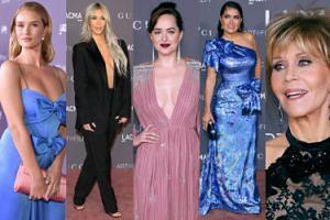 Tłum gwiazd na gali LACMA: Kim Kardashian, Jane Fonda, Salma Hayek, Dakota Johnson... (ZDJĘCIA)