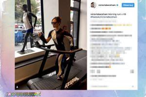 Victoria Beckham ćwiczy na bieżni w SZPILKACH
